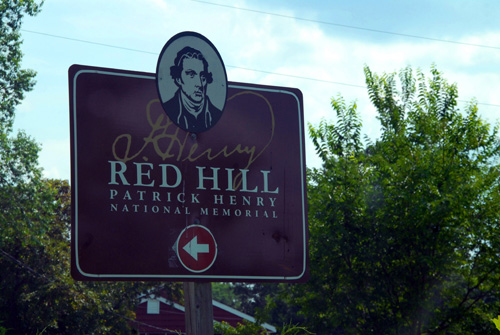 Red hill plantation sign